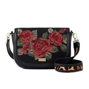 Kate Spade Rose Floral Calf Fur Purse Bag